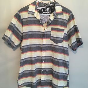 Volcom Button Up Slim Fit Large